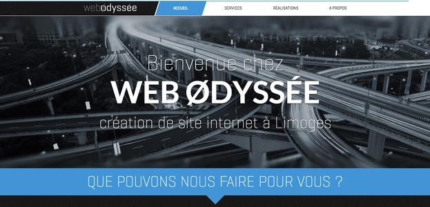 Site internet de l'agence Web Odyssée à Limoges